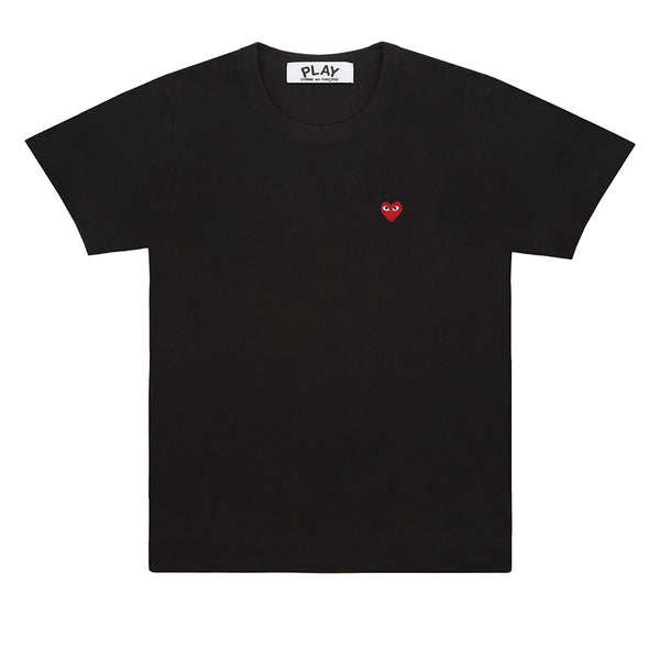 COMME des GARCONS PLAY Red Heart T-Shirt Black