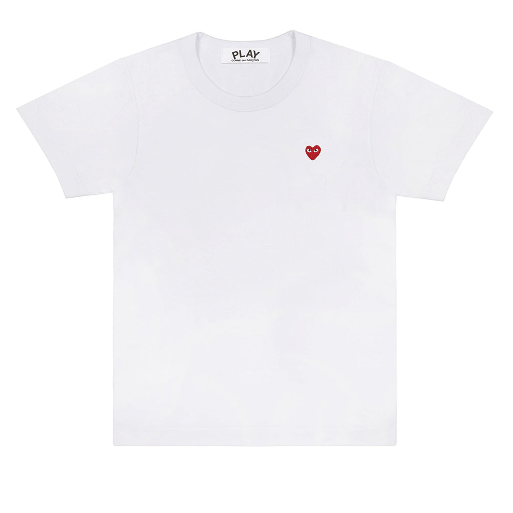 COMME des GARCONS PLAY Little Red Heart T-Shirt White