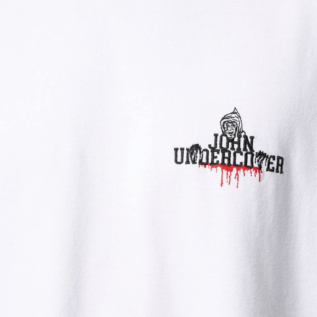JohnUNDERCOVER Embroidered Logo T-Shirt White