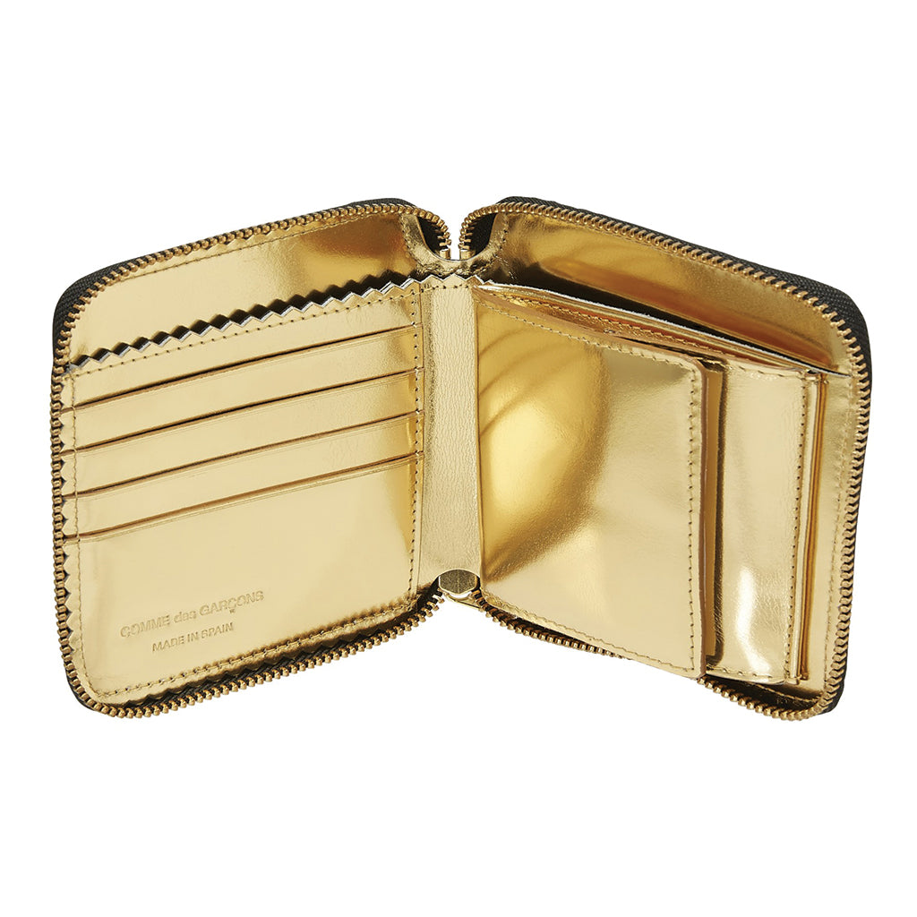 COMME des GARCONS Wallets Mirror Inside Black / Gold - SA2100MI