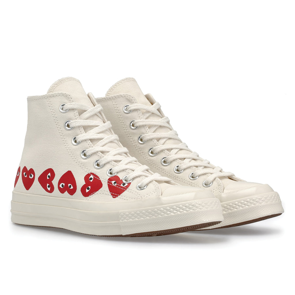 Sotavento respuesta Combatiente  COMME des GARCONS PLAY x Converse Multi Heart Chuck Taylor All Star '70  High White – T0K10