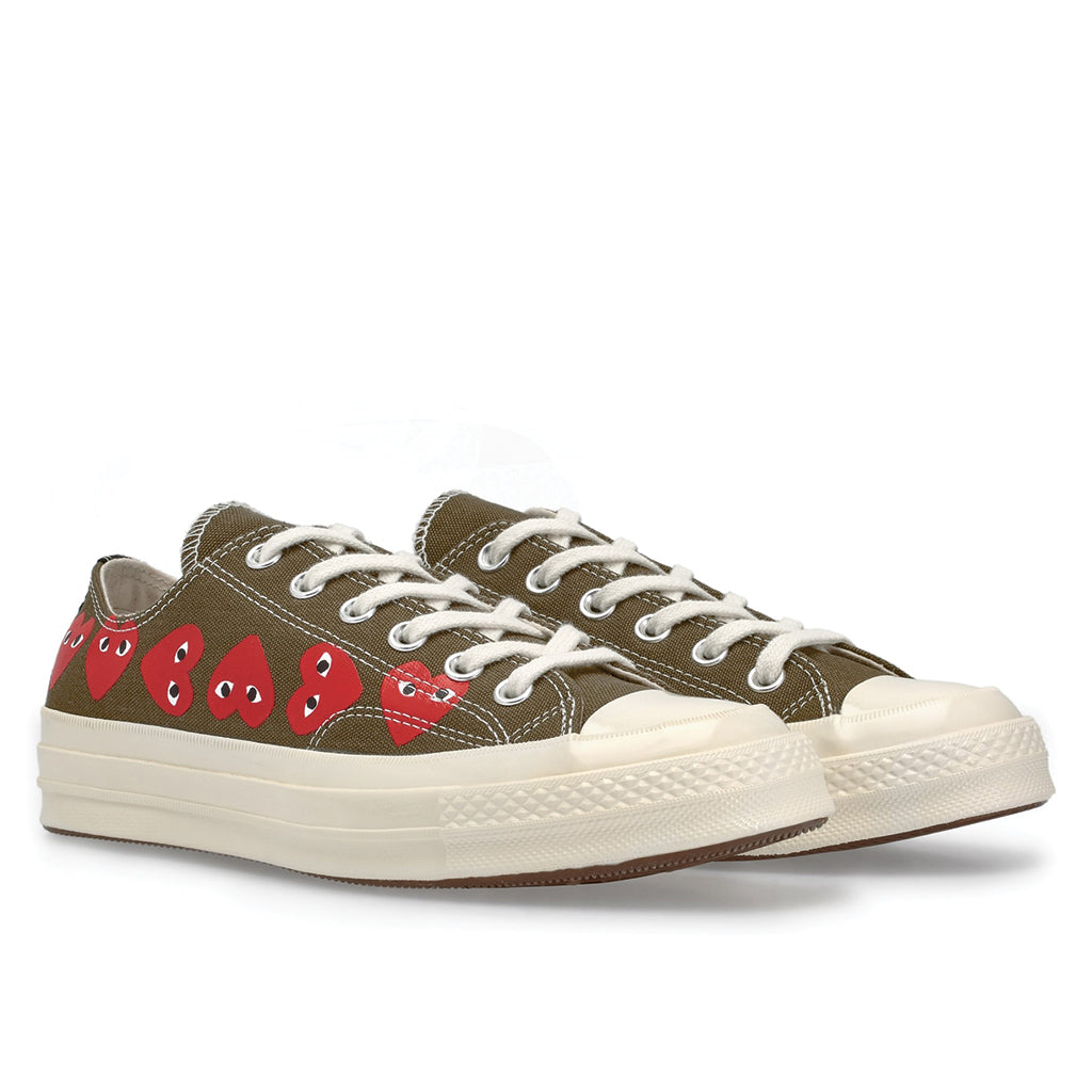 COMME des GARCONS PLAY x Converse Multi Heart Chuck Taylor All Star '70 Low Khaki