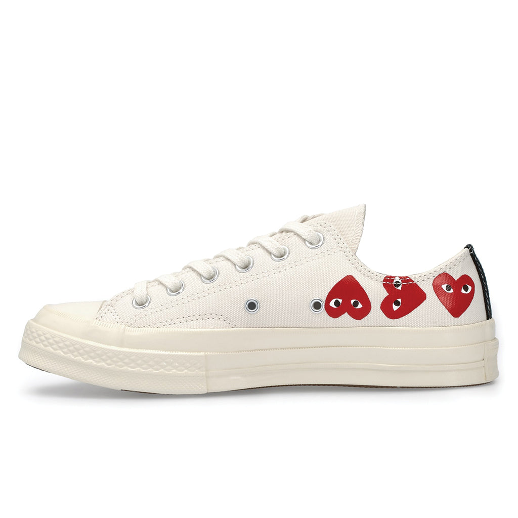 COMME des GARCONS PLAY x Converse Multi Heart Chuck Taylor All Star '70 Low White