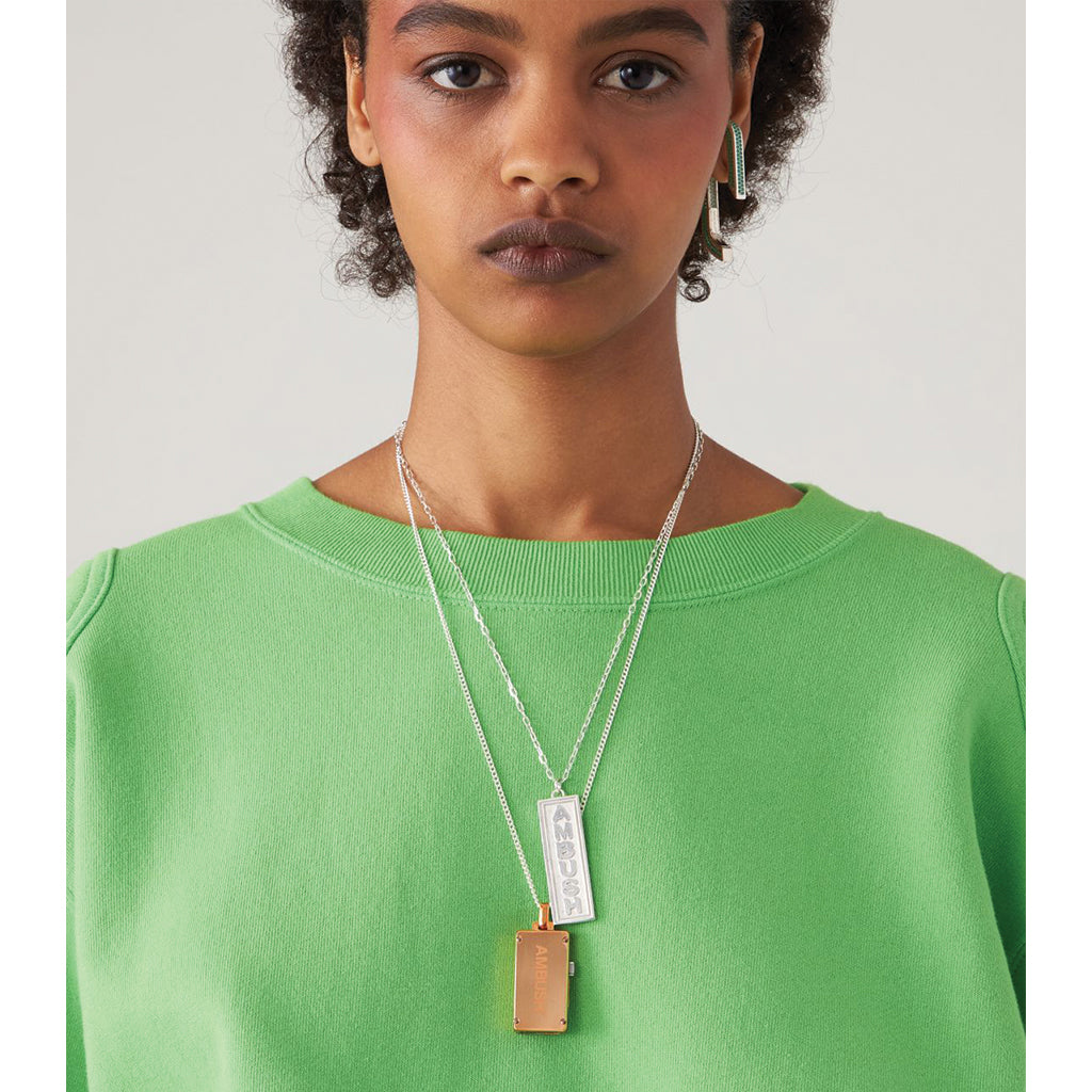 AMBUSH Design Jewellery Ofuda Necklace Silver
