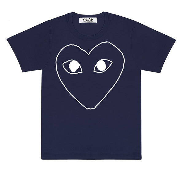 COMME des GARCONS PLAY Outlined T-Shirt Navy