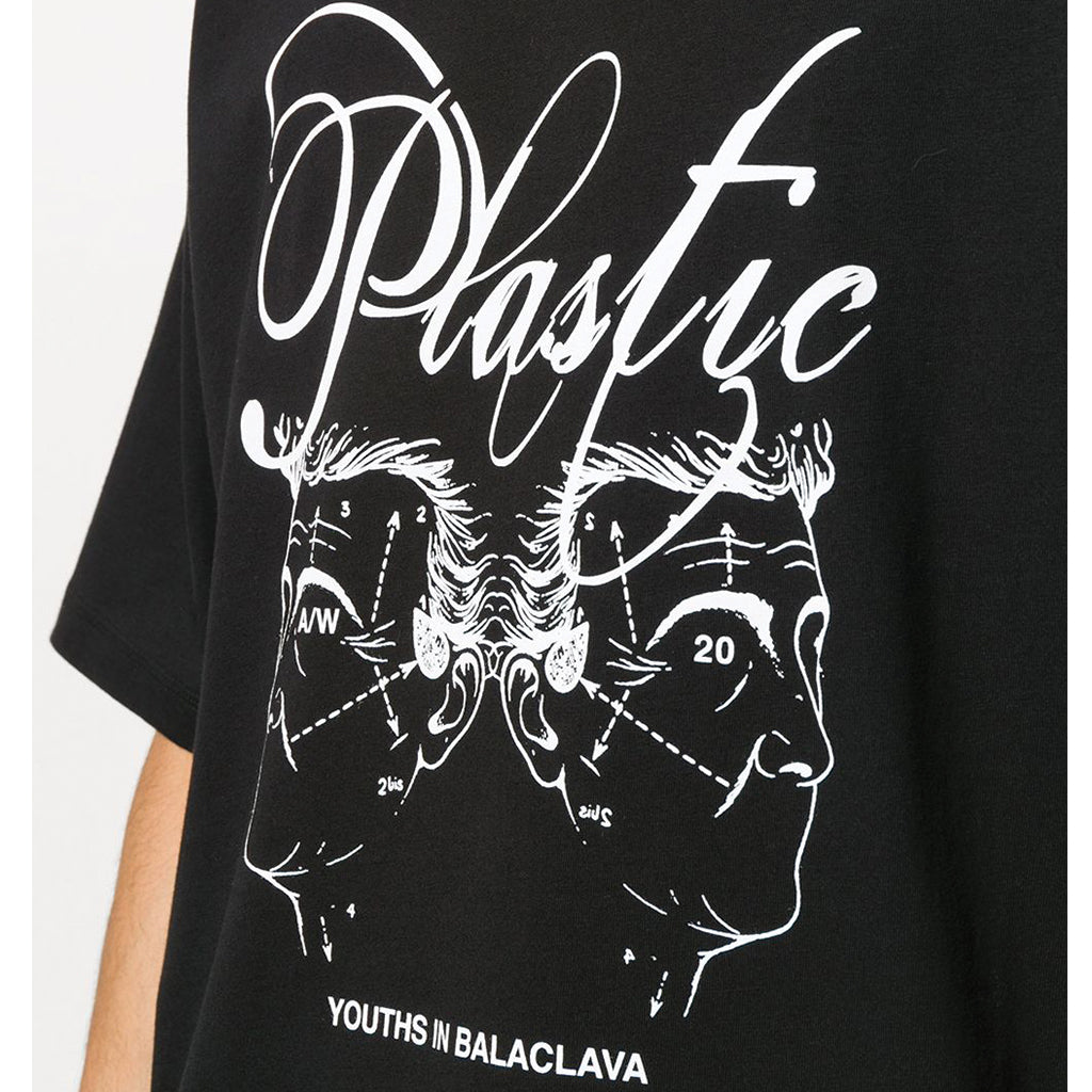 Youths in Balaclava Plastic Graphic T-Shirt Black