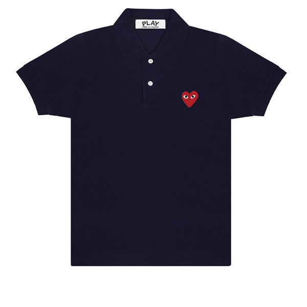 COMME des GARCONS PLAY Polo Shirt Navy