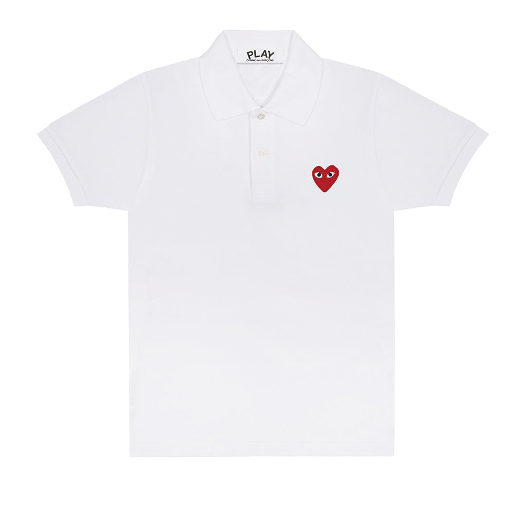 COMME des GARCONS PLAY Polo Shirt White