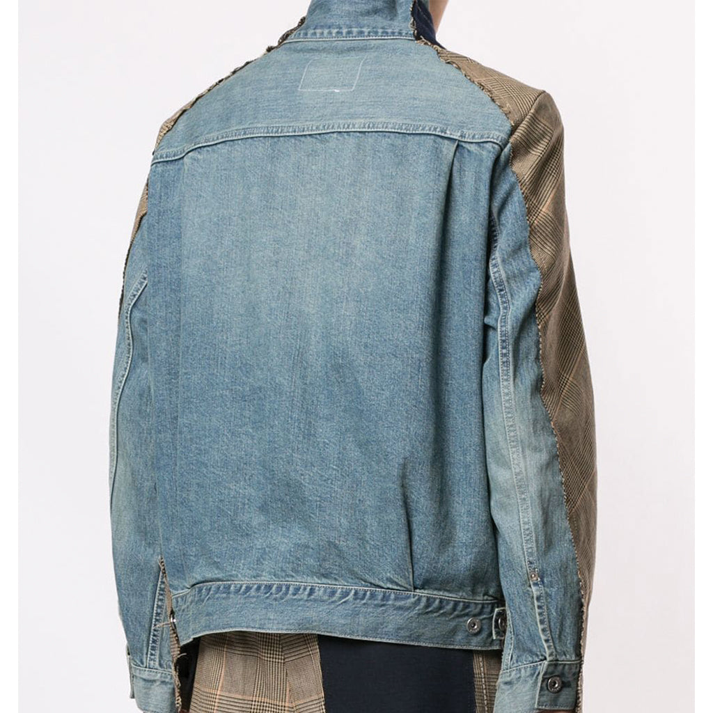 Glencheck Denim Jacket