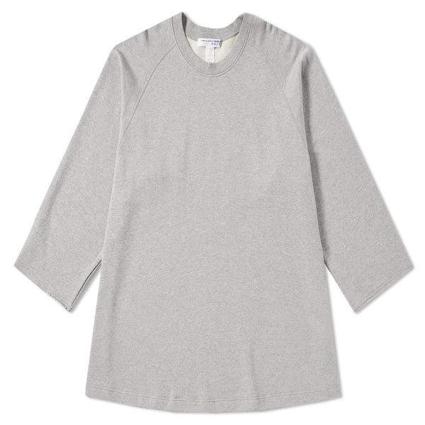 COMME des GARCONS SHIRT BOYS Printed Logo Oversized Crewneck Grey