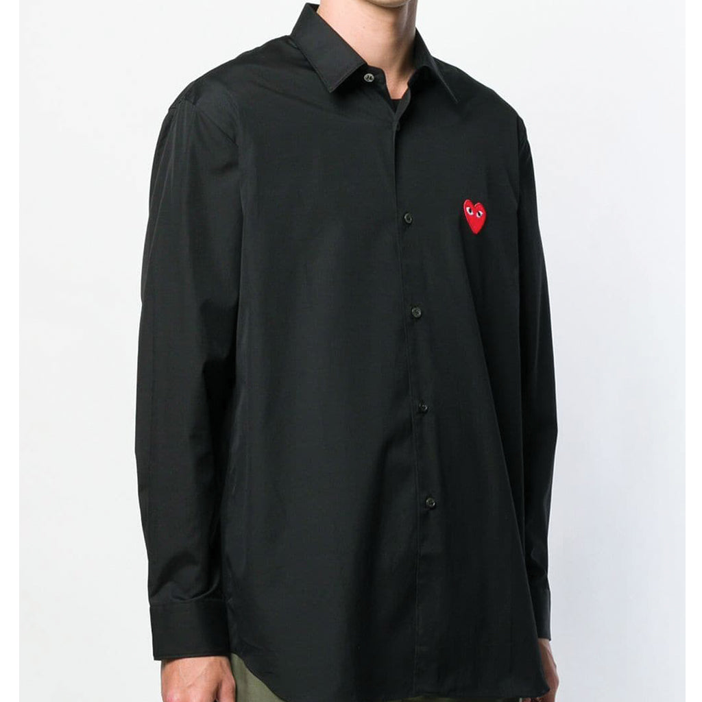 COMME des GARCONS PLAY Red Heart Shirt Black