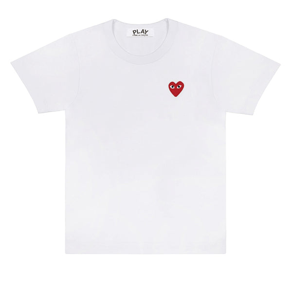 COMME des GARCONS PLAY Red Heart T-Shirt White