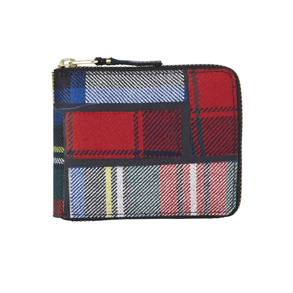 COMME des GARCONS Wallets Tartan Patchwork Wallet Red