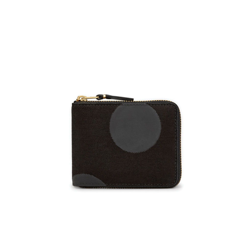 Rubber Dot Full Zip Wallet Black