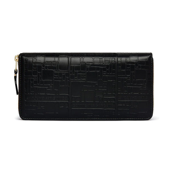 COMME des GARCONS WALLETS Embossed Logotype Black SA0110EL