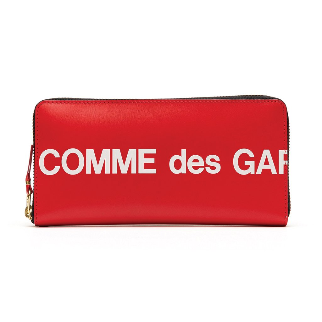 COMME des GARCONS WALLETS Huge Logo Red SA0110HL