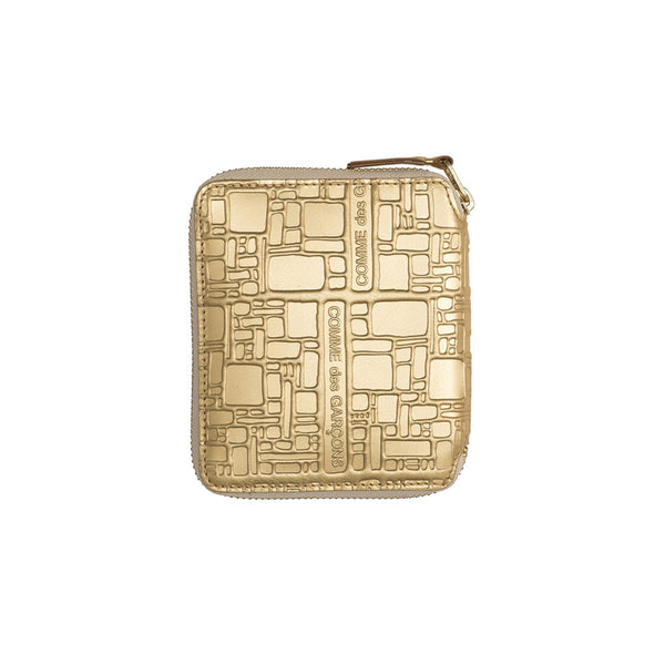 COMME des GARCONS WALLETS Embossed Logotype Gold SA2100EG