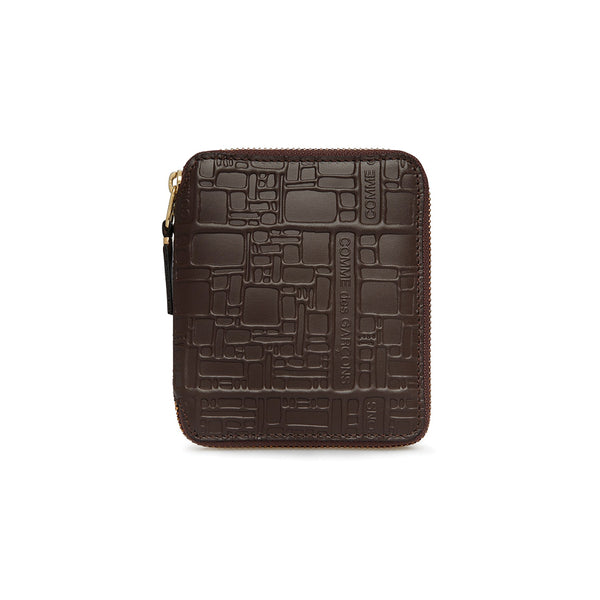 COMME des GARCONS WALLETS Embossed Logotype Brown SA2100EL