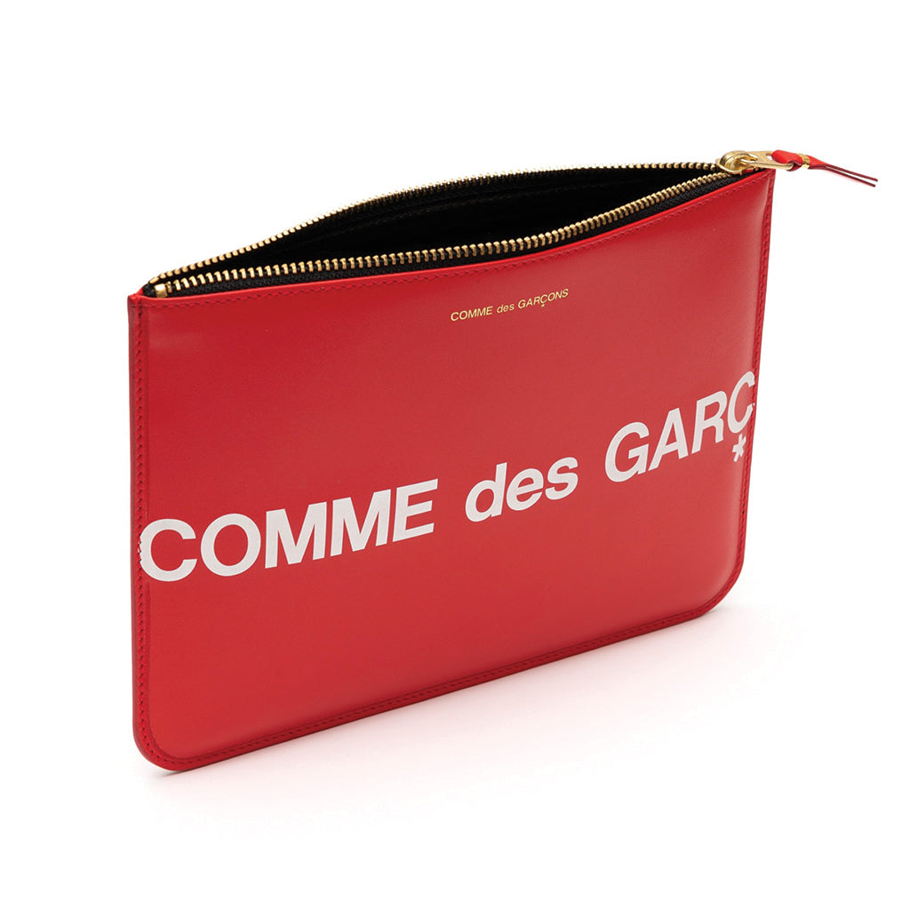 COMME des GARCONS WALLETS CdG Huge Logo Wallet SA5100HL Red