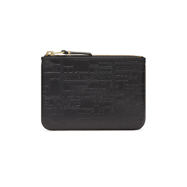 COMME des GARCONS Wallets Embossed Logotype Black SA8100EL