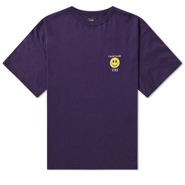 VIER Antwerp x Facetasm Smile T-Shirt Purple