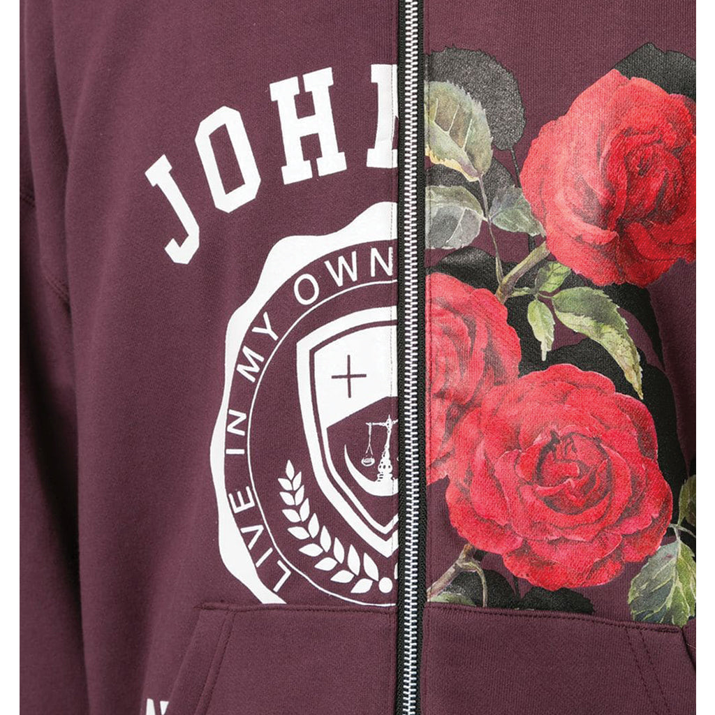 JohnUNDERCOVER Logo / Rose Split Jacket Bordeaux