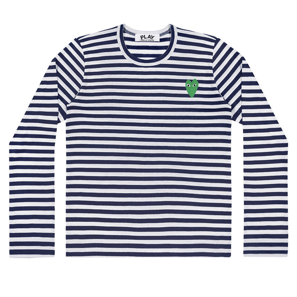 COMME des GARCONS PLAY Striped Longsleeve Green Heart