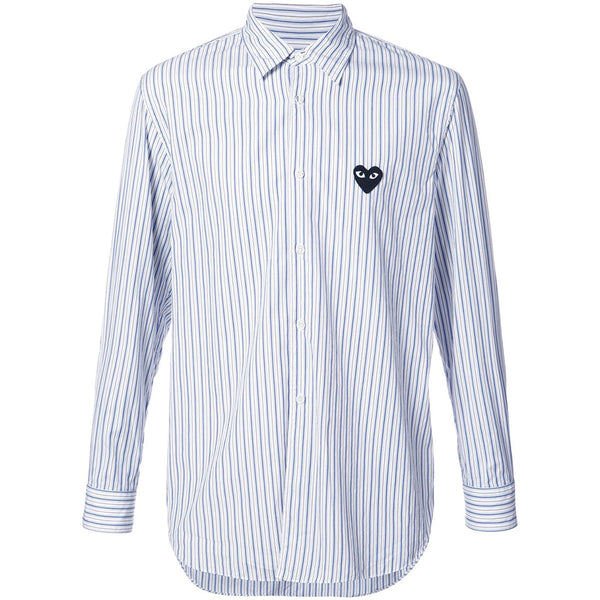 COMME des GARCONS PLAY Black Heart Striped Shirt