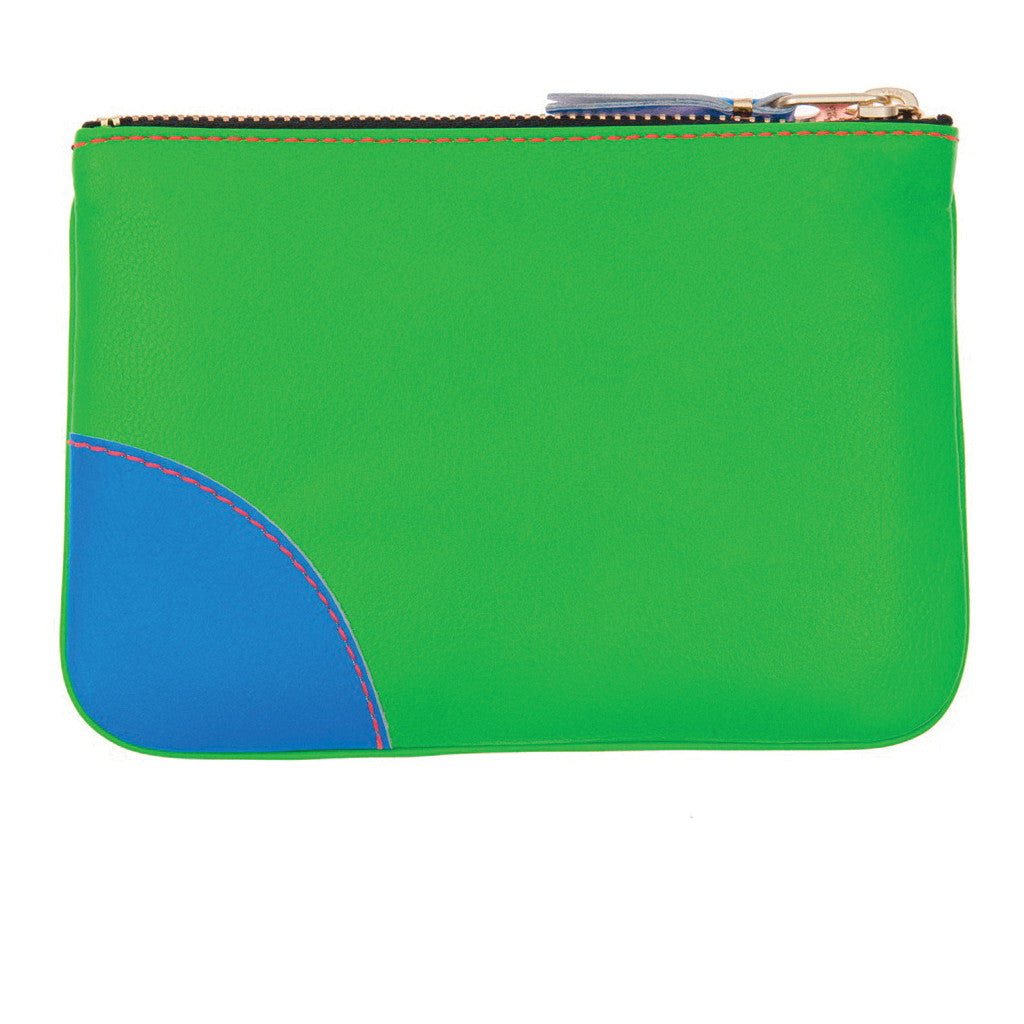 COMME des GARCONS WALLETS Super Fluo Green / Blue / Orange SA8100SF