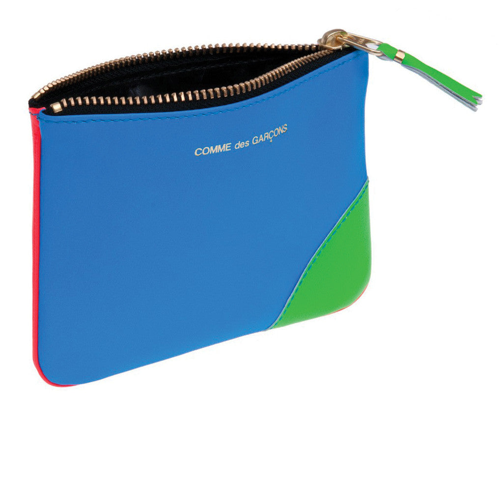 COMME des GARCONS WALLETS Super Fluo Blue / Orange / Green SA8100SF