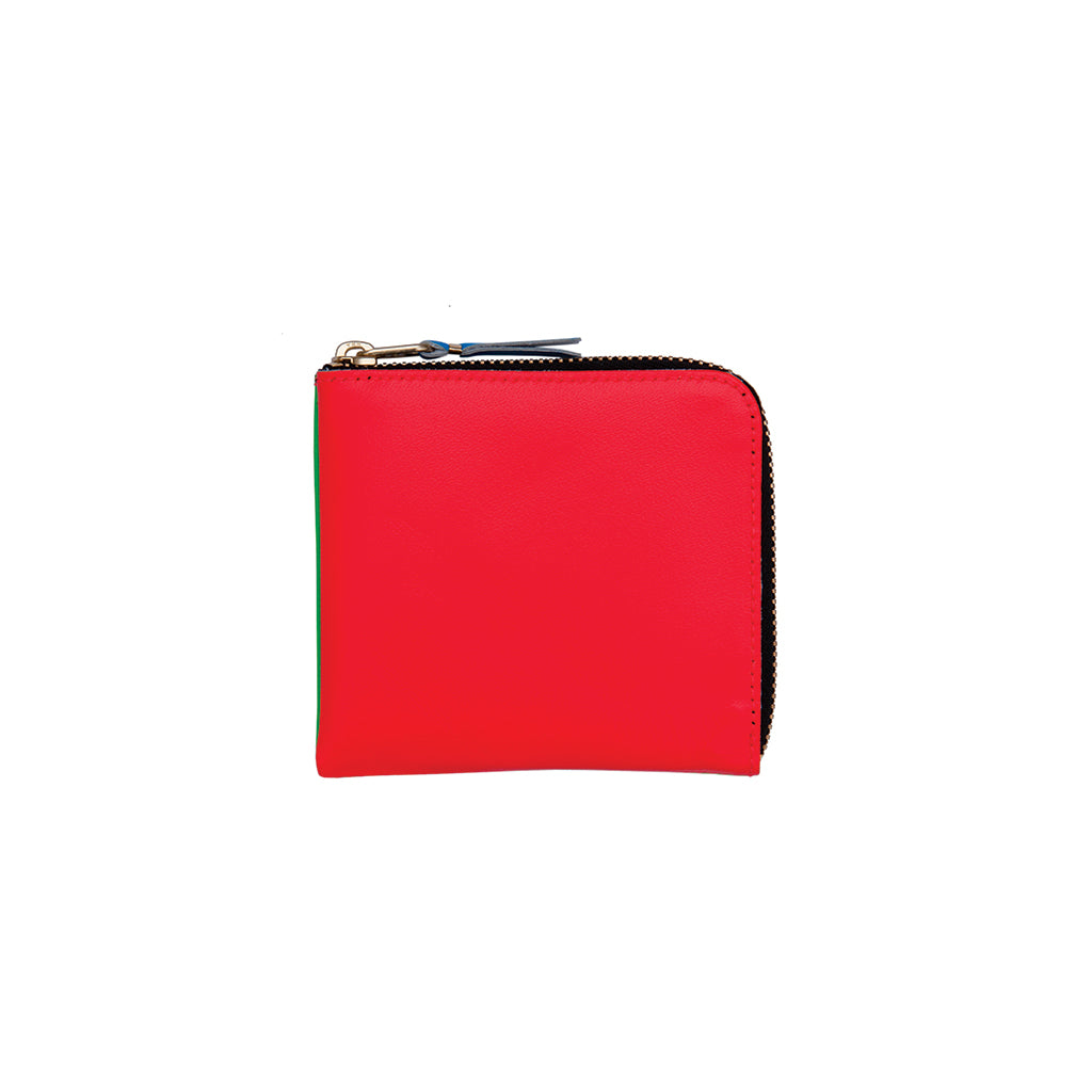COMME des GARÇONS Wallets Super Fluo Classic Orange / Blue Wallet SA3100SF