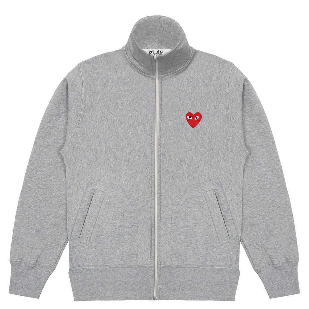 COMME des GARCONS PLAY Sweatshirt With 5 Hearts Grey