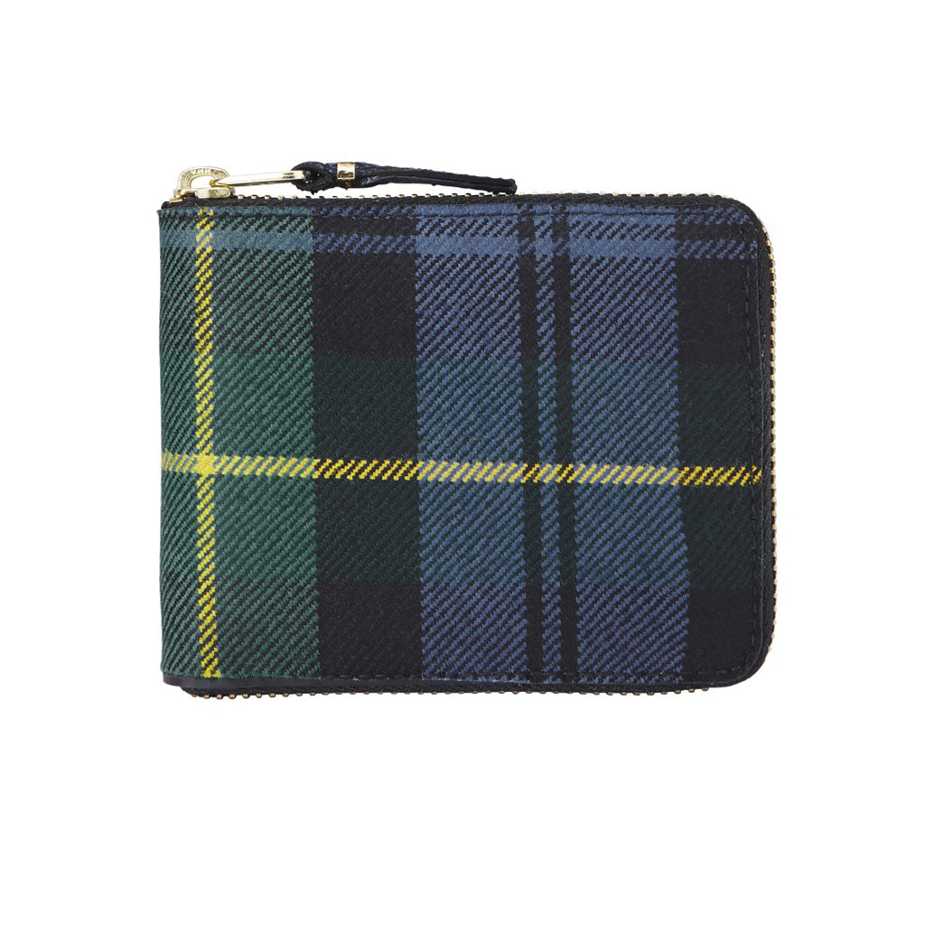 COMME des GARCONS Wallets Tartan Patchwork Wallet Green