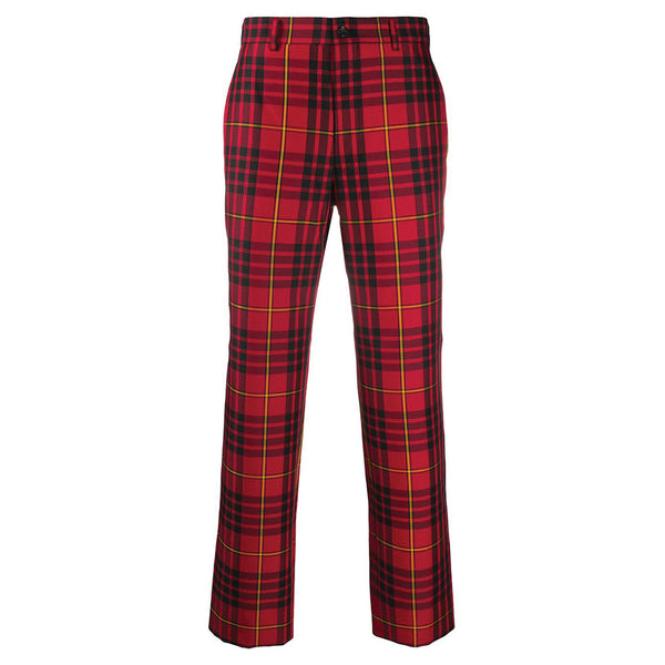 Tartan Checkered Pants Red