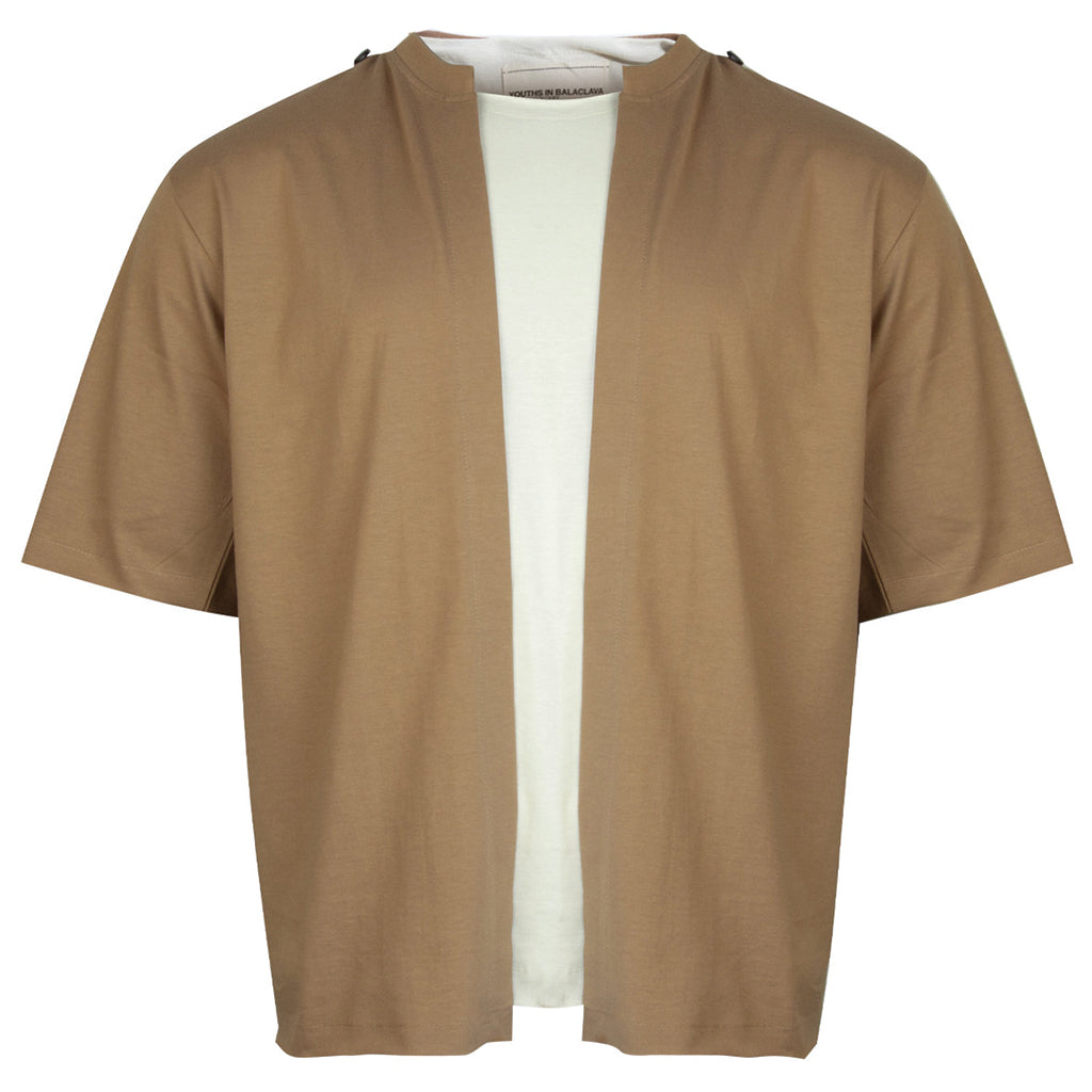 Youths in Balaclava Two-Tone T-Shirt Cream / Brown
