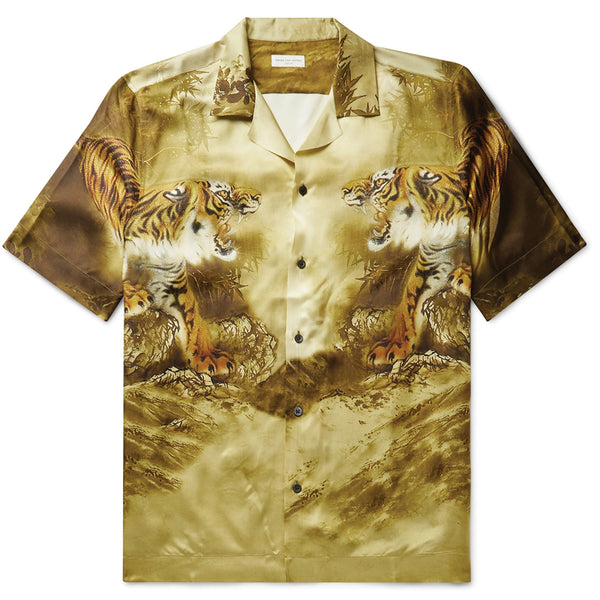 Dries van Noten Carltone Tiger Print Shirt Beige