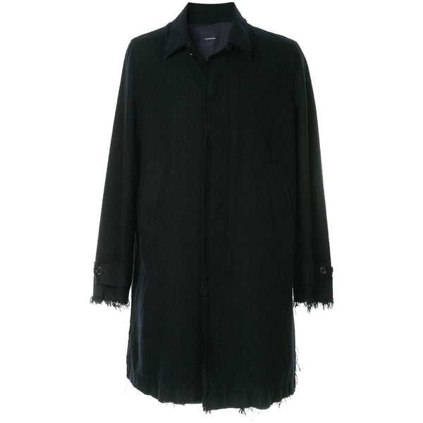 JohnUNDERCOVER Unfinished Hems Coat Black