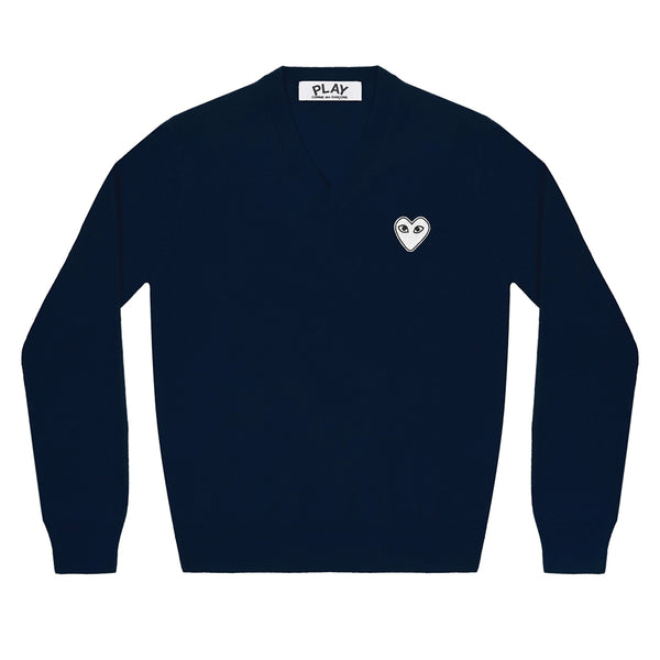 White Heart Pullover Navy