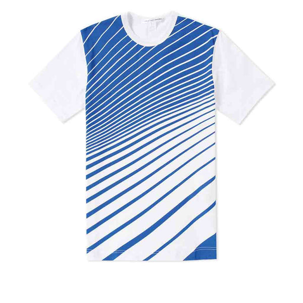 COMME des GARCONS SHIRT YZC Striped Print T-Shirt