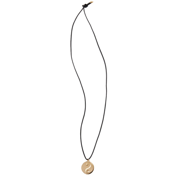 Yin and Yang Necklace Gold