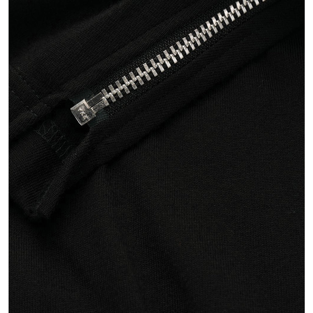 Zipper T-Shirt Black