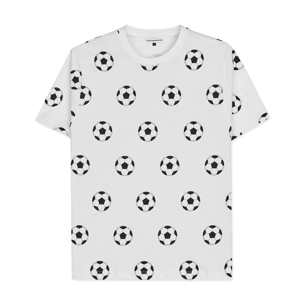 GOSHA RUBCHINSKIY Allover Football T-Shirt White