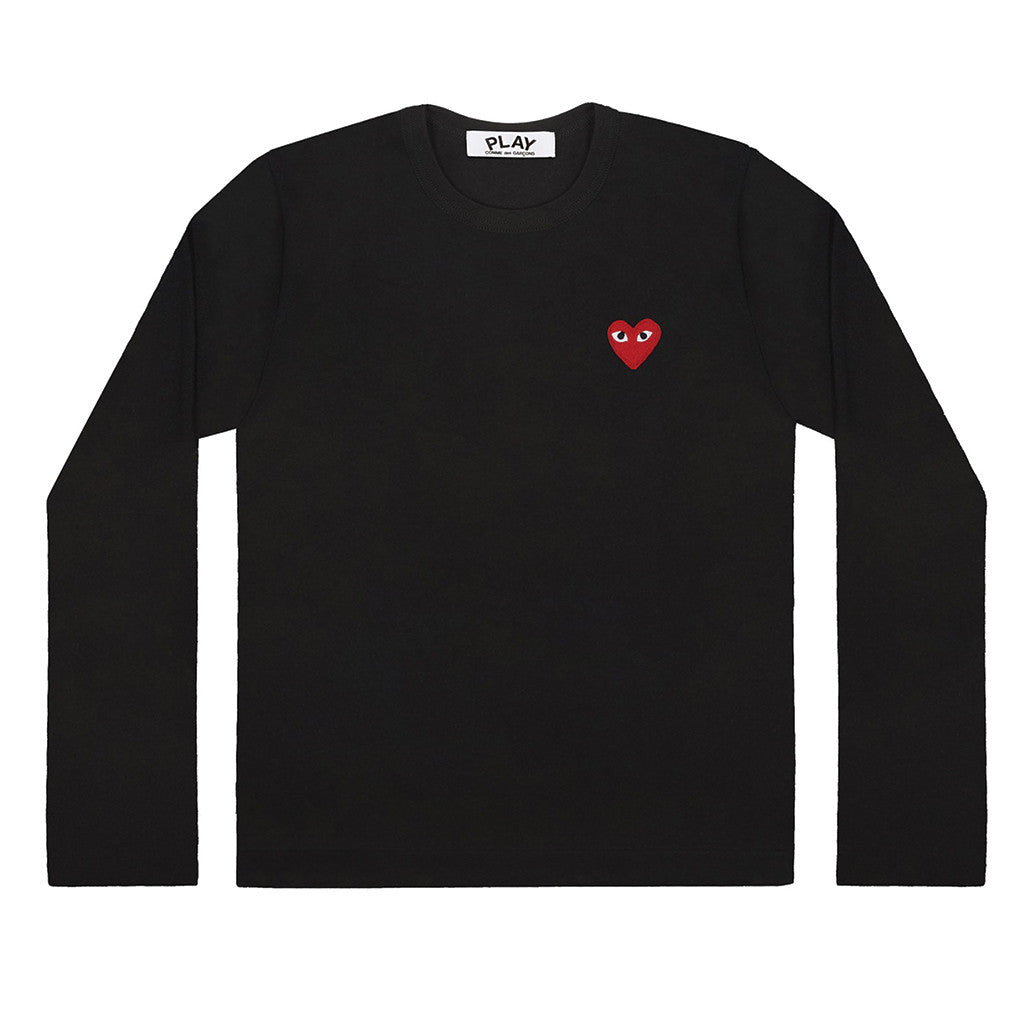 e0be7b9a8c069 COMME des GARCONS PLAY · Red Heart Longsleeve Black