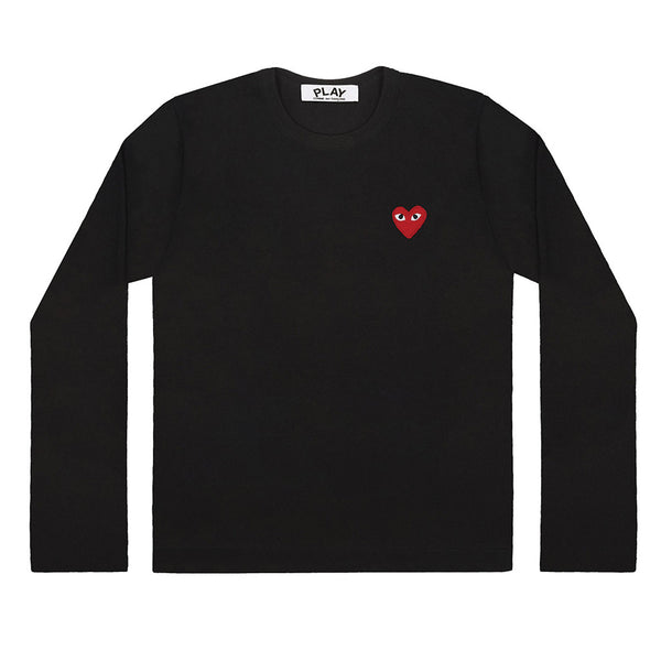 COMME des GARCONS PLAY Red Heart Longsleeve Black