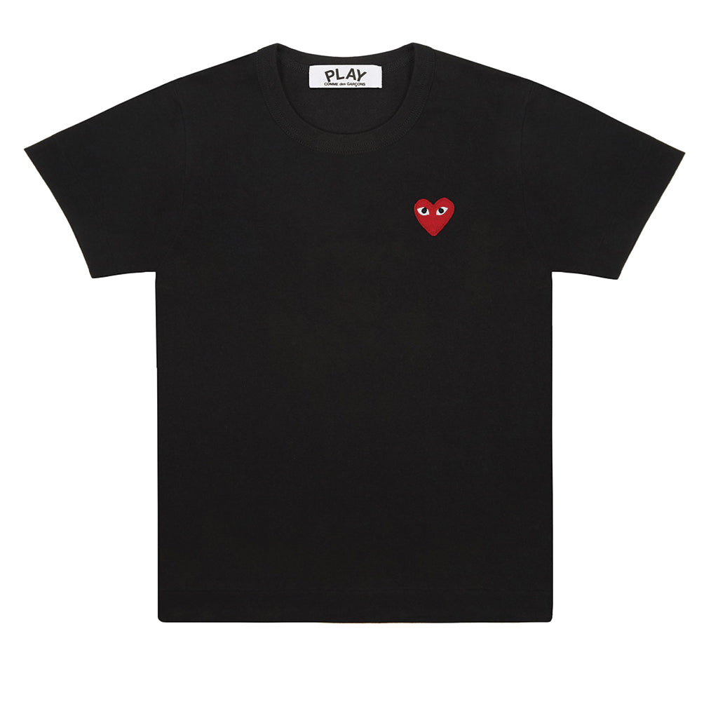 COMME des GARCONS PLAY Red Heart T-Shirt Black | T0K10 Online Store