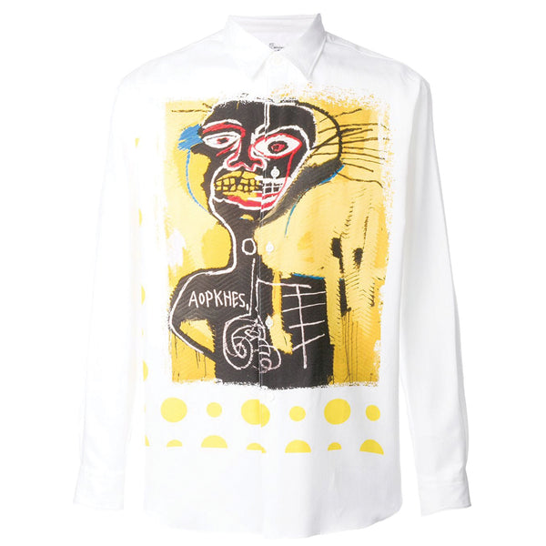 COMME des GARCONS SHIRT x BASQUAIT Artwork Shirt Yellow Polka Dot