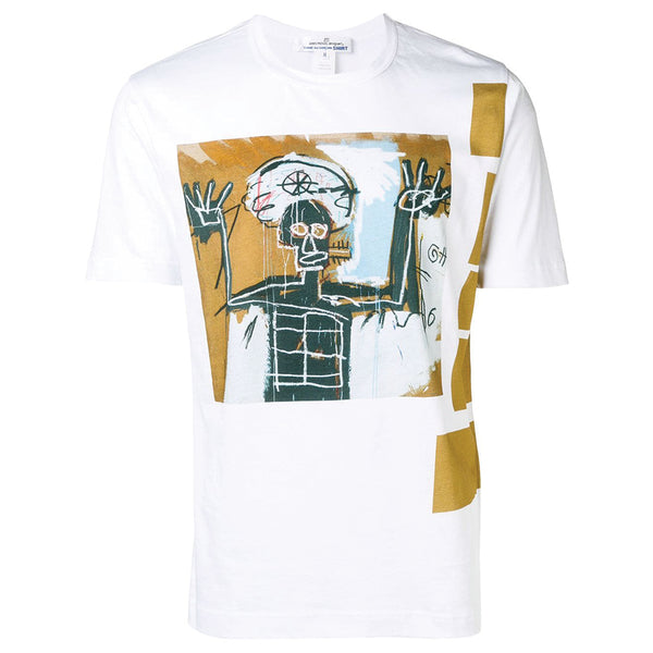 x BASQUIAT Artwork T-Shirt Brown Stripes