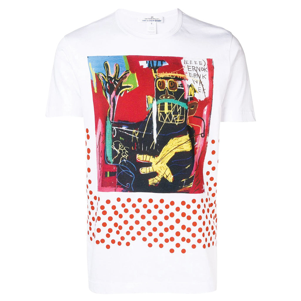 x BASQUIAT Artwork T-Shirt Red Polka Dot
