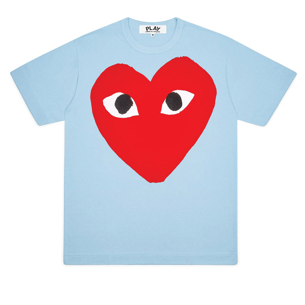 COMME des GARCONS PLAY Bright Heart Logo T-Shirt Blue