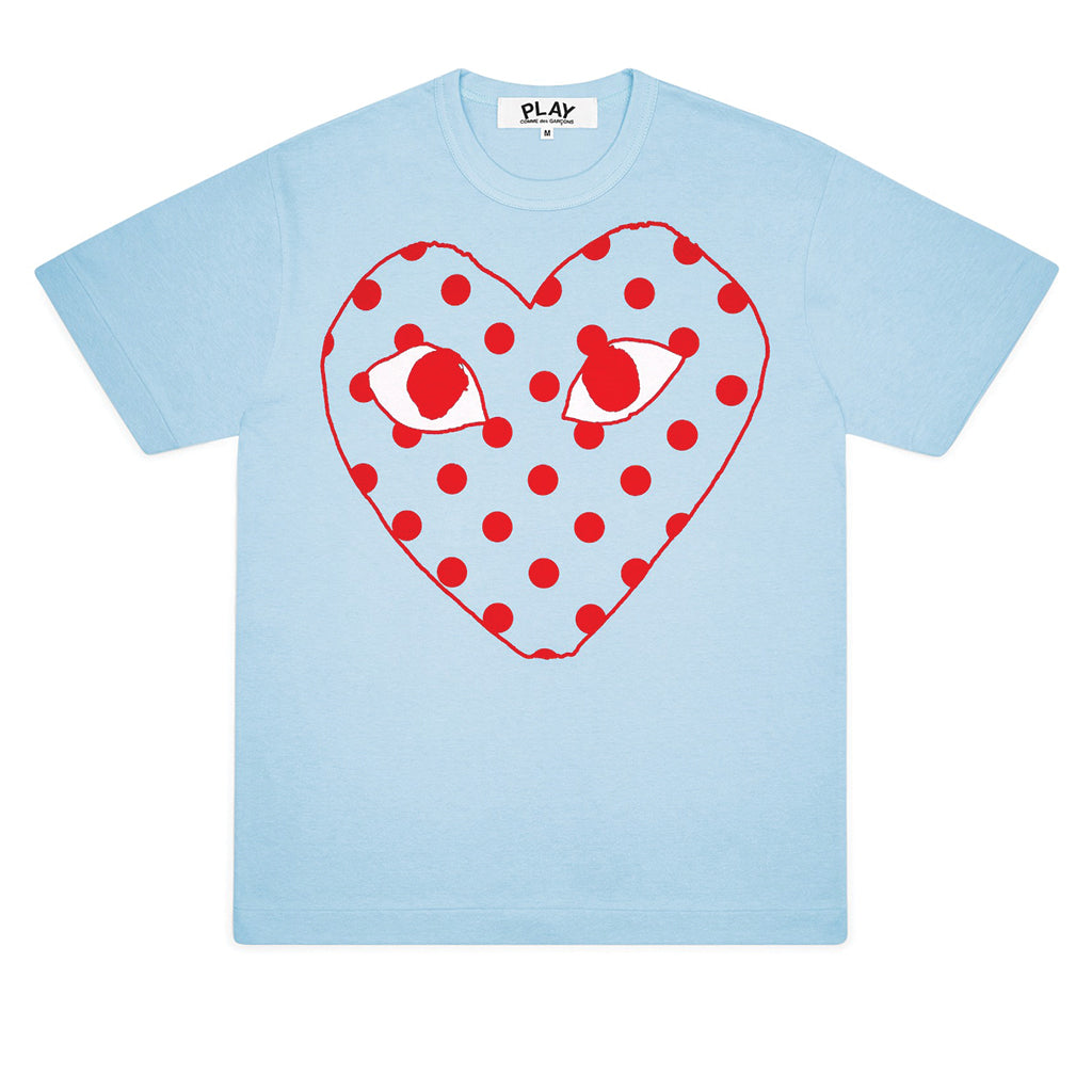 Bright Polka Dot Logo T-Shirt Blue